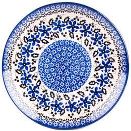 Talerz duży - ceramika Bolesławiec - polne kwiaty