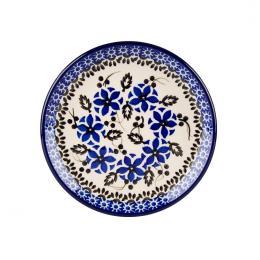 Talerzyk pod bulionówkę - ceramika Bolesławiec - polne kwiaty
