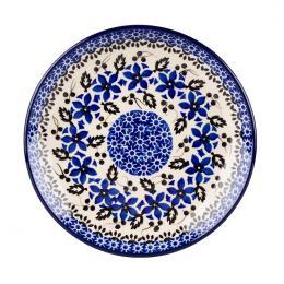 Talerz deserowy - ceramika Bolesławiec - polne kwiaty