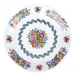 Talerz płaski duży ręcznie malowany - ceramika opolska