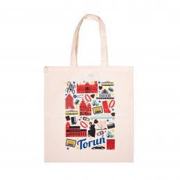 Bawełniana torba - TORUŃ symbole