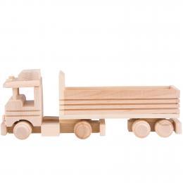 Tradycyjna zabawka ludowa - eko folk - star z naczepą bez przykrycia