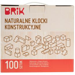Klocki konstrukcyjne | naturalne | 100 elementów