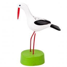 Tradycyjna zabawka ludowa - ręcznie rzeźbiony bocian