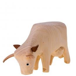 Tradycyjna zabawka ludowa - wiejska zagroda - krówka pochylona