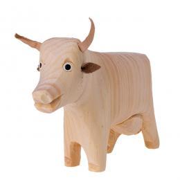Tradycyjna zabawka ludowa - wiejska zagroda - krówka stojąca