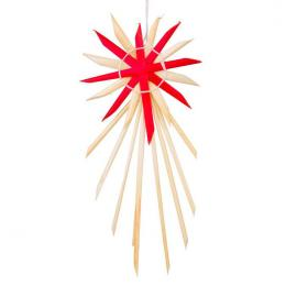 Tradycyjne ozdoby ze słomy   gwiazda betlejemska czerwona