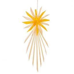 Tradycyjne ozdoby ze słomy   gwiazda betlejemska żółta