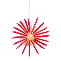 Tradycyjne ozdoby ze słomy   gwiazdka czerwona