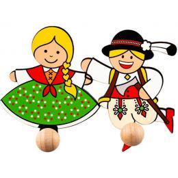 Wieszaczki folkowe góralskie - para góralska