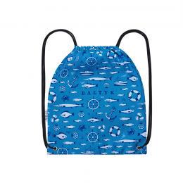Worek, plecak sportowy - BAŁTYK symbole niebieski