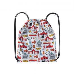 Worek, plecak sportowy - ŁÓDŹ symbole