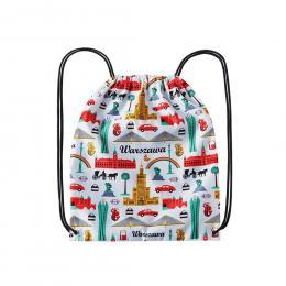 Worek, plecak sportowy - WARSZAWA symbole