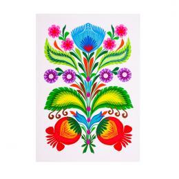 Tradycyjna pionowa kodra łowicka mini - kwiaty ludowe