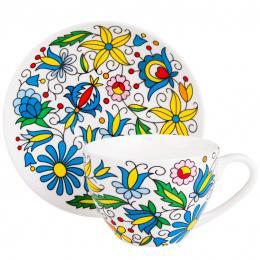 FOLK filiżanka Irenka – ludowe kwiaty z kaszubskich haftów